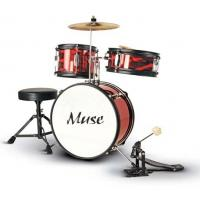 Quality Red Complete Set 3 Piece Junior Kids Drum Set Percussion Kit With Cymbal Z343S for sale