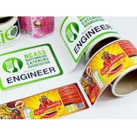China Packaging Glossy Sticker Labels , Sheet / Roll Glossy Printable Stickers wholesale