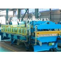 China Color Coat Metal Glazied Roof Tile Roll Forming Machine 4m/min - 6m/min Speed wholesale