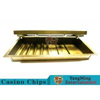 China Casino Dedicated 1 Layer Poker Chip Case Classic Style With Double Lock wholesale