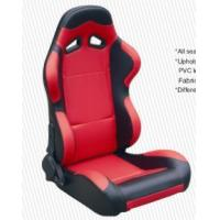 China Cars Parts Universal Black And Red Racing Seats Foldable With Safety Belts wholesale