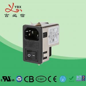 China Yanbixin 1A-10A 120 250VAC Inline EMI Filter / AC Socket EMI EMC Filter wholesale