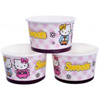 China 8oz 12oz Custom Printed Ice Cream Containers , Disposable Ice Cream Bowls on sale