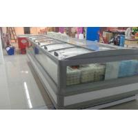 China Supermarket 5m Double Side Island Display Freezer Remote Cooling System wholesale