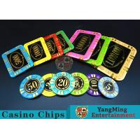 China Round Shape RFID Casino Chips / Casino Poker Chips With Good Wear Resistance wholesale