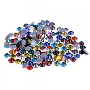 China Ss4 / Ss6 MC Glass Rhinestones , Flat Back Glass Crystals Eco - Friendly wholesale