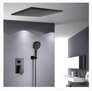 China Contemporary Shower Wall Faucet Black Matte Single Handle Under Water Faucet 20.5cm wholesale