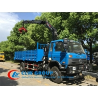 China Dongfeng 6 Wheels 5T Truck Mounted Boom Crane wholesale