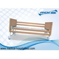 China Disabled Care Electric Foldable Nursing Home Bed Locking Wheels wholesale