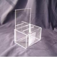 China Eco - Friendly 216 * 180 * 190mm Acrylic Storage Boxes for Earring & Bracelet Display wholesale