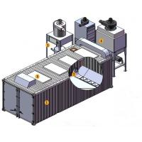 China Manual Operation Sand Blasting Chamber / Room Surface Derust For Car And Cabinet wholesale