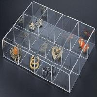 China 2 / 3mm Acrylic Jewelry Display Case Box With Laser Engraving Logo wholesale