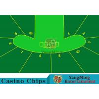 China 2400*1400mm Touch Comfort Casino Table Layout Using Three Anti-Free Cloth wholesale