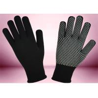 China Blue Freezer Knitted Working Hands Gloves Custom Logo Silicone Printing wholesale