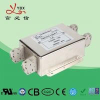 China 120V 30A 250VAC AC Power Noise Filter / AC Line EMI Filter Metal Case wholesale