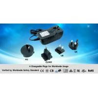 China Black Lithium Ion Battery Charger With 4 Changeable Worldwide Plugs For Audio on sale