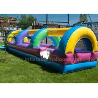 China 28 ft N Slide Rainbow Colorful Waterproof Inflatable Bouncy Slide With Blower wholesale