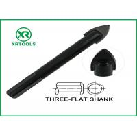 Black Oxided Glass Cutting Drill Bit Three Flat Shank Carbon Steel Material