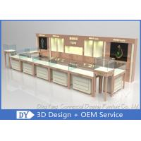 China Nice Beige Jewellery Counters Showcases / Jewellery Showcase Design wholesale