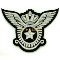 Laser Cut Clothing Embroidered Patches , Apparel Iron On Embroidered Badges