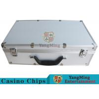 China Easy To Carry Casino Game Accessories Aluminum Round Chip Case With Handle wholesale
