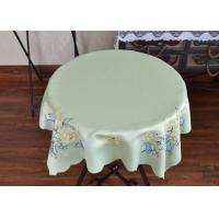 China Chemical Fiber Light Green Table Cloth , Embroidered Square Table Cloths wholesale