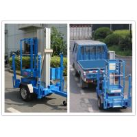 China Trailer Mounted One Man Lift 8 Meter Hydraulic Aluminium Alloy With 136 kg Rated Load wholesale