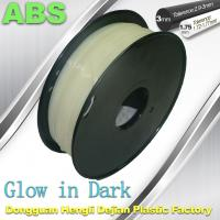 Quality Markerbot , RepRap Glow in The Dark 3d Printer Filament  , 3D Printing Filament ABS for sale