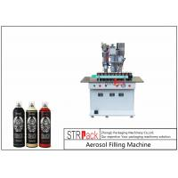 China Semi Automatic Aerosol Spray Paint Filling Machine For Air Freshener / Refrigerant wholesale