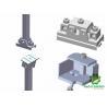 China solar home system Aluminum Brackets Solar Structure  Ballasted Mounting   Solar Panel Adjustable Mounting Brackets wholesale