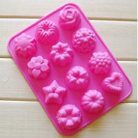 China silicone muffin cake molds , flower shape silicone tray  mold ,custom  silicone  mold wholesale