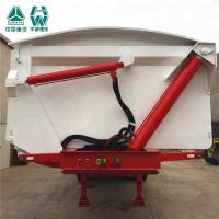 China Electronic Control Tri Axle Tipper , Steel Frame Tipping Car Trailer wholesale