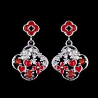China Sterling Silver Cubic Zirconia Earrings / Color Enamel Love Heart Stud Earrings For Lady Jewelry wholesale