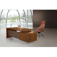 China Brown Executive Desk 200cm With Extention Modesty And Mobile Pedestal wholesale