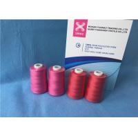 China 100% Polyester Staple Fiber Sewing​ TFO Yarn , Dyed Ring Polyester Core Spun Thread wholesale