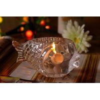 China Fashional Creative Clear Glass Tealight Candle Holders Small Gold Fish wholesale