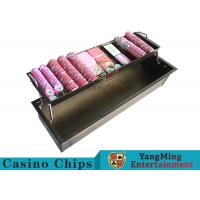 China 2 - Layer Bronze Metal Casino Chip Tray Thick Solid With Security Protection Lock wholesale