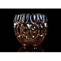 China 315ml Dimpled Shape Glass Candle Jars with Color Sprayed Electroplated Effect wholesale