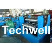 China 0.25 - 4.0mm 3 Sets Rollers Corrugated Sheet Bending Machine With 0 - 10m/min Speed wholesale