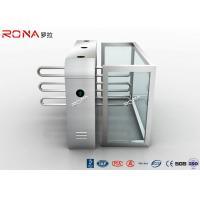 China Security Solution Waist High Turnstil Assured Stainless Barrier With Metal Wings wholesale