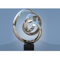 China Large Size Stainless Steel Sculpture Circle Around For Hotel / Public Decoration wholesale