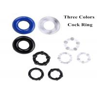 Quality 3 Pack Smooth Silicon Delay Ejaculation C Ring Vibrator Male Penis Set Sex Toys for sale