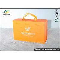 China Luxury Cardboard Jewelry Gift Boxes Customized Size With Ribbon Handles wholesale