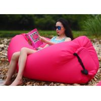 China Outdoor Folding Pink Inflatable Air Bag Chair For Beach Rentals 260 * 70CM wholesale