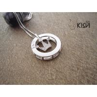 China Fashion Jewelry Round 925 Sterling Silver Gemstone Pendant with Zircon W-VB963 wholesale