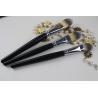 China Wood Handle Professional Foundation Brush Black Handle Color Oval Shape wholesale