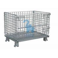 China Galvanized Steel Wire Storage Baskets Metal Storage Cage For Workshop wholesale