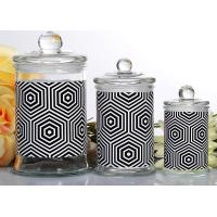 China Customized Candle Glass Containers Storage Jar With Lid 710ml wholesale