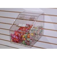 China 6mm Candy Acrylic Display Case Clear Plexiglass Storage with Lids wholesale
