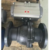 China Single Acting Ball Valve Pneumatic Actuator Flanged Connection For Natural Gas wholesale